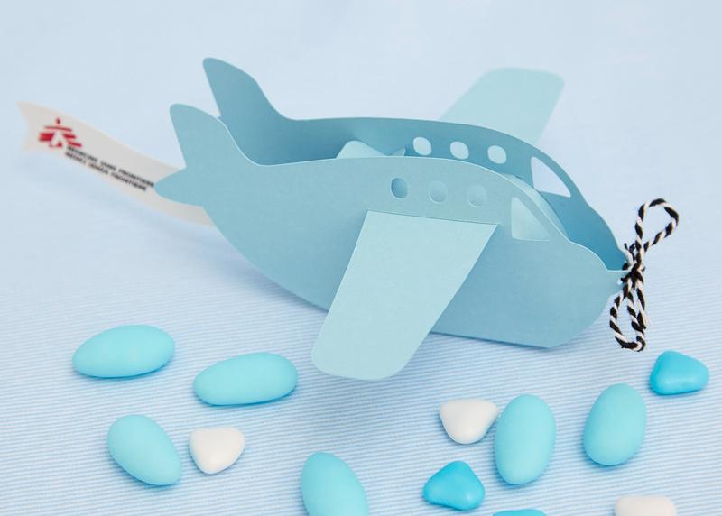 Bomboniera Aeroplanino Azzurro