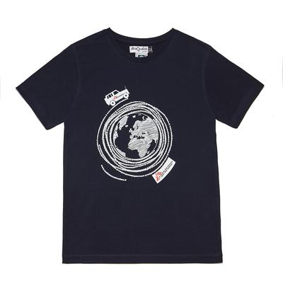 T-shirt bimbo blu