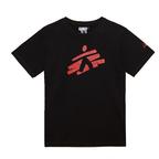 T-shirt unisex nera con omino MSF