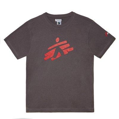 T-shirt unisex grigia con omino MSF