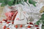 Bomboniera sacchetto crema