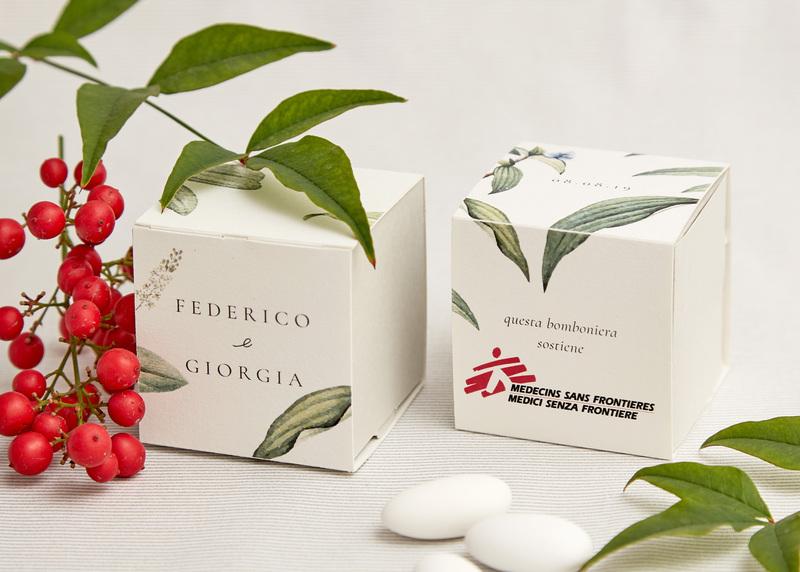 Bomboniera Botanica Grigio Perla