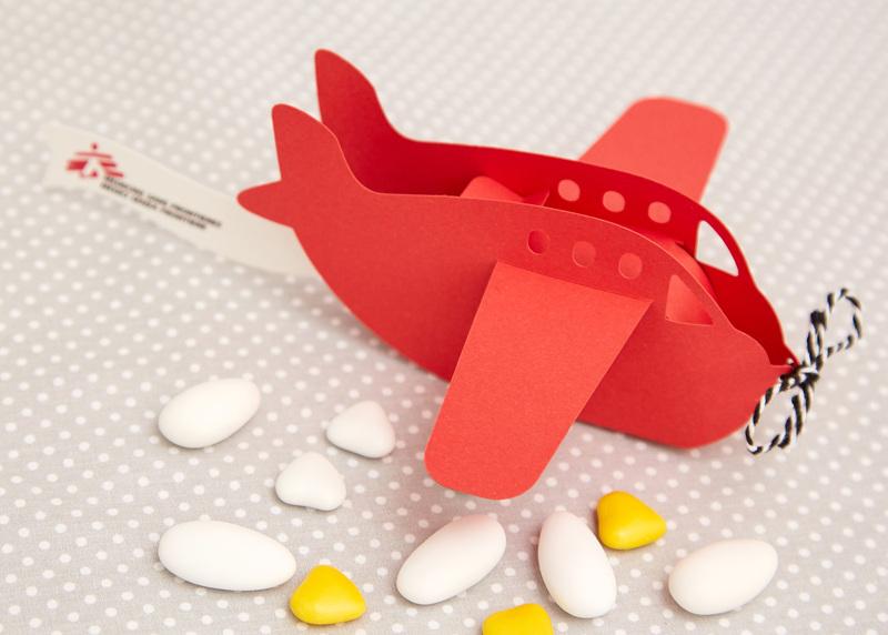 Bomboniera Aeroplanino Rosso