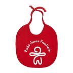 Bavaglino MSF rosso per neonato, con lacci