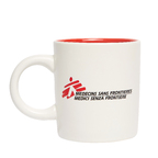 Tazza mug bianca con logo MSF