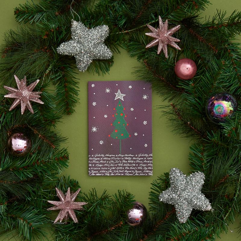Biglietto di Auguri MSF con Albero di Natale