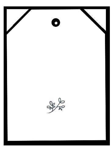 Bigliettino tag con foglie