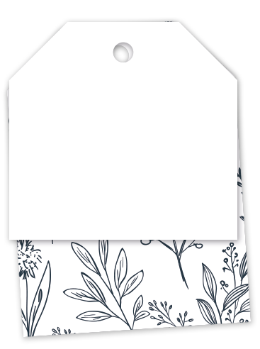 Bigliettino tag botanico