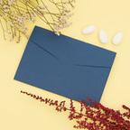 Partecipazione blu con foglie