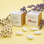 Bomboniera avana con fiori colorati
