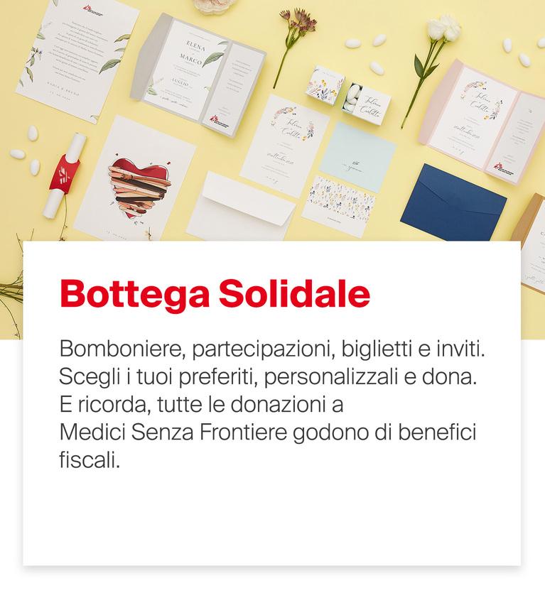 Scopri le bomboniere Bottega Solidale
