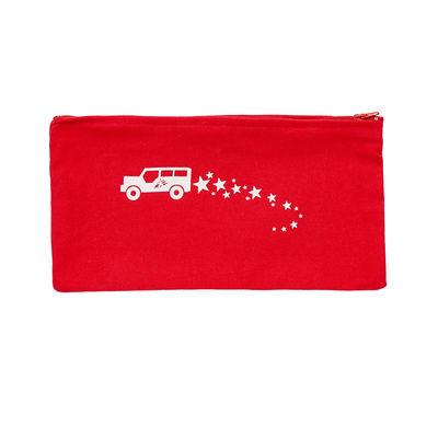 Astuccio rosso con macchinina e logo MSF