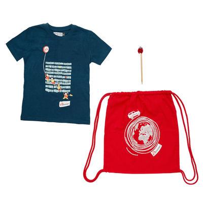 Kit regalo MSF per bimbo: zainetto, t-shirt e matita