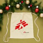 Zainetto ecru con logo MSF