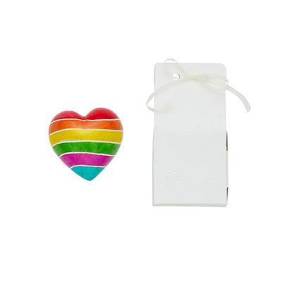 Cuore di pietra saponaria arcobaleno