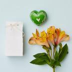 Cuore di pietra saponaria verde