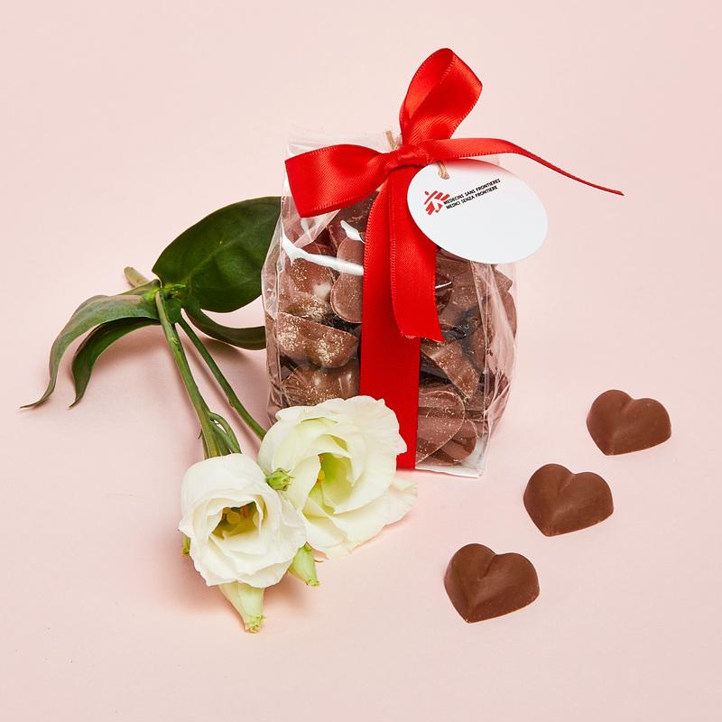 Sacchetto Cuoricini di cioccolato al latte