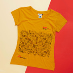 T-shirt solidale donna giallo ocra 50 anni MSF
