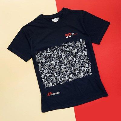 T-shirt solidale unisex blu 50 anni MSF