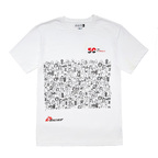 T-shirt solidale unisex bianca 50 anni MSF